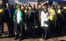 Baleka Mbete, seen with some ANC members, during a visit in Soweto. Picture: Masa Kekana/EWN.