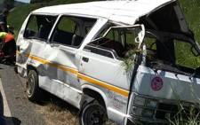 Four people were killed when a taxi crashed on the N3 in Pietermaritzburg. Picture: @Netcare911_sa