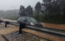 Heavy rains flooded roads across Cape Town on 8 July 2012. Picture: Aletta Gardner/EWN