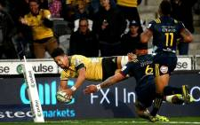 The Hurricanes' Ardie Savea scores against the Highlanders in their Super Rugby match on 5 April 2019. Picture: @Hurricanesrugby/Twitter