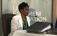 Gauteng Health Department's deputy director for mental health services Hannah Jacobus testifies at the Life Esidimeni arbitration hearing on 18 January, 2018. Picture: Masego Rahlaga/EWN