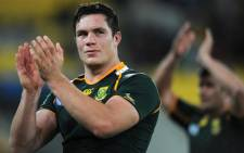 South Africa's Springbok Francois Louw. Picture: AFP.