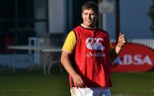 Springbok flyhalf Morne Steyn during a training session in Cape Town on 13 August 2012. Picture: Aletta Gardner/EWN