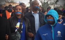The DA held a silent march in Bosmont on the West Rand against the high levels of drug use and crime in the area. Picture: Kgothatso Mogale/EWN