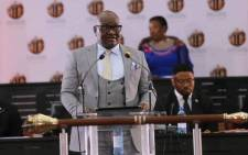 Gauteng Premier David Makhura during his State of the Province Address on 18 February 2019. Picture: @GautengProvince/Twitter
