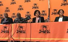 FILE: Prosecutions boss Shamila Batohi (second right) at a media briefing in Pretoria on 24 May 2019 where she introduced the head of the newly established Investigative Directorate, Advocate Hermione Cronje (right). Picture: Barry Bateman/EWN