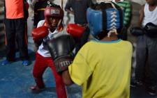 "Thembani ""Terror"" Gqeku started an African Youth Boxing Club in Khayelitsha with the hopes of keeping kids off the streets. Picture: Leah Rolando/Lead SA."