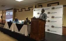 Gauteng Education MEC Panyaza Lesufi opens the Gauteng Education Summit in Pretoria on Saturday 26 September 2015. Picture: Emily Corke/EWN