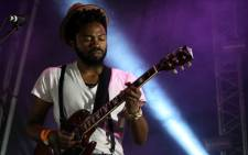 BLK JKS guitarist Mpumi Mcata on stage at Oppikoppi Sweet Thing on 10 August 2012. Picture: Aletta Gardner/EWN