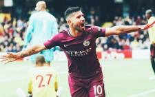 Sergio Aguero scored a hat-trick to reach 175 goals for the club on 16 September against Watford. Picture: @ManCity.