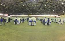 Voting delegates at the Democratic Alliance's federal congress cast their ballots in Tshwane. Picture: @Our_DA/Twitter.
