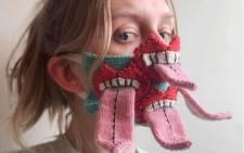 A face mask by Icelandic designer Yrurari. Picture: @yrurari/Instagram.