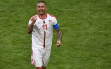 Serbia's defender Aleksandar Kolarov celebrates after scoring during the Russia 2018 World Cup Group E football match between Costa Rica and Serbia at the Samara Arena in Samara on 17 June, 2018. Picture: AFP.