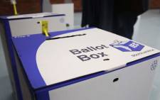 Two ballot boxes sit in the Pinelands Primary voting station as South Africans cast their votes on 8 May 2019. Picture: Bertram Malgas/EWN