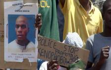 Taxi driver Mido Macia's memorial service was held at a stadium in Daveyton on 6 March 2013. Picture: EWN