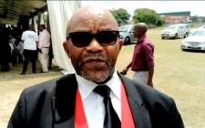 Former Deputy Defence Minister Mluleki George. Picture: Daily Dispatch video screengrab / Facebook