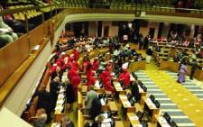 The EFF's section in Parliament. Picture: EWN.