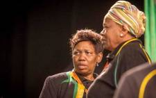 Minister of Basic Education Angie Motshekga (left) at the ANC national policy conference at Nasrec on 30 June 2017. Picture: Thomas Holder/EWN.