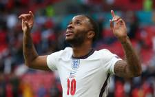 England forward Raheem Sterling celebrates his goal during the Uefa Euro 2020 match against the Czech Republic at Wembley Stadium on 22 June 2021. Picture: @EURO2020/Twitter