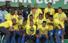 Uruguayan Gaston Sirino scored to give Mamelodi Sundowns a 1-0 Nedbank Cup final victory over Bloemfontein Celtic in Soweto 12 September 2020, and a trophy treble this season.  Picture: @Masandawana/Twitter.
