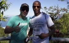 EWN's World Cup team: Marc Lewis & Jimmy Tau in Rio de Janeiro on 6 July 2014. Picture: Christa Eybers/EWN.