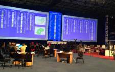 IEC results board in Auckland Park. Picture: Thando Kubheka/EWN.