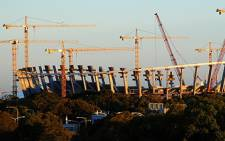 FILE: Construction at the Greenpoint stadium in Cape Town. Picture: EWN.