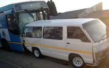 An investigation is underway after four people were killed when a bus veered off the road in Randburg hitting pedestrians and a parked taxi on 21 July 2014. Picture: ER24
