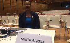 Communications and Telecommunications Minister Stella Ndabeni-Abrahams at the High-Level Forum Africa-Europe in Vienna on 18 December 2018. Picture: Lindsay Dentlinger/EWN
