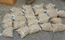 FILE: Confiscated Mandrax tablets. Picture: @SAPoliceService/Twitter