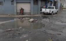 Sewage overflow after vandalism at Site B pump station. Image: Screengrab from City of Cape Town video on YouTube