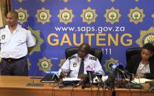 Gauteng Police Commissioner Lesetja Mothiba addresses the media on 9 September, 2014 on the recent spate of mall robberies in Gauteng. Picture: Vumani Mkhize/EWN.