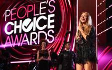 Blake Lively accepts her People's Choice Award. Picture: AFP