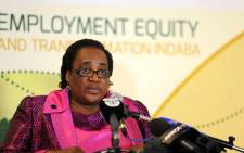 South African Labour Minister Mildred Oliphant. Picture: Sapa.