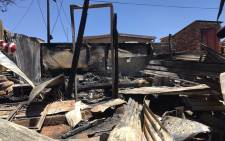FILE: Three children died in a shack fire in Snake Park on 18 January 2017. Picture: Masego Rahlaga/EWN.