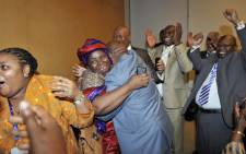 Nkosazana Dlamini-Zuma with the South African Delegation after the AU Candidate vote. Picture: Jacoline Prinsloo/GCIS.