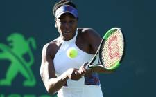 Venus Williams in action. Picture: @MiamiOpen/Twitter
