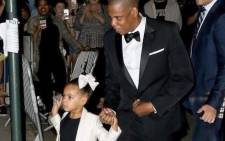 Rapper Jay-Z and his 5-year-old daughter Blue Ivy. Picture: Twitter/@blueivyreaction