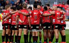 FILE: The Crusaders huddle up ahead of a Super Rugby match. Picture: @crusadersrugby/Twitter