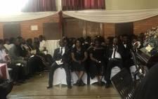 Enock Mpianzi's family at his funeral in Kensington. Picture: Bonga Dlulane/EWN.