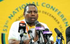 ANC treasurer-general Zweli Mkhize addressed a media conference on finance resolutions at the Mangaung conference. Picture: ANC.