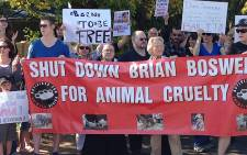 A protest against alleged animal cruelty by the Brian Boswell circus in Kempton Park on 28 April 2013. Picture: Reinart Toerien/EWN
