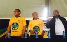 ANC NEC members Sihle Zikalala and Fikile Mbalula. Picture: Ziyanda Ngcobo/EWN.