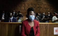 Public Protector Busisiwe Mkhwebane appears in the Pretoria Magistrates Court on perjury charges on 21 January 2021. Picture: Boikhutso Ntsoko/EWN
