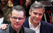 US actors Matt Damon and George Clooney, Picture: AFP.