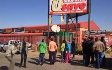 Two people were killed during a shootout at a supermarket in Dobsonville on 10 June 2013. Picture: Mbali Sibanyoni/EWN