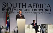 "FILE: President Cyril Ramaphosa delivers the keynote address at the Investment Conference 2018 held at the Sandton Convention Centre in Johannesburg under the theme, ""Accelerating Growth by Building Partnerships"". Picture: GCIS"