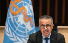 FILE: This handout picture made available by the World Health Organization (WHO) shows WHO Director-General Tedros Adhanom Ghebreyesus delivering remarks following the speech of US President's chief medical adviser during a World Health Organization (WHO) executive board meeting on 21 January 2021 in Geneva. Picture: AFP
