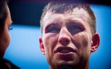 Jeff Horn of Australia is interviewed after beating Manny Pacquiao of the Philippines in their World Boxing Organisation welterweight boxing match in Brisbane on 2 July 2017. Picture: AFP.