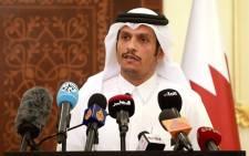 Qatari Foreign Minister Mohammed bin Abdulrahman al-Thani. Picture: AFP.